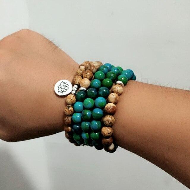 Bracelet Mala Pierre Naturelle poignet