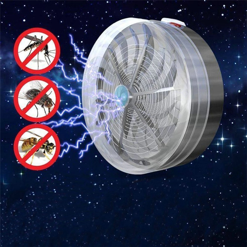2018 Solar Powered Buzz UV Lamp Light Fly Insect Bug Mosquito Kill Zapper Killer Electric Trap Electronic Anti Insect Bug Wasp