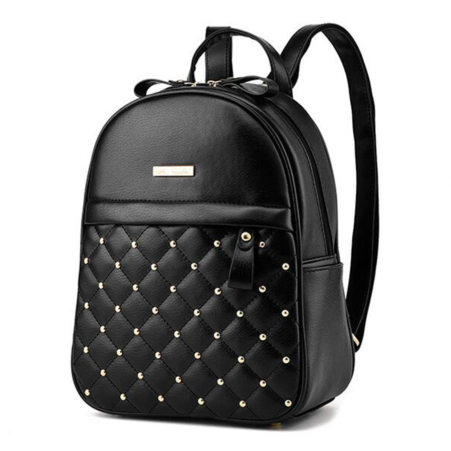 Women Small Rivet Backpacks 2017 Fashion Causal Bags Lovely Backpacks for School Girls College Bag Female
