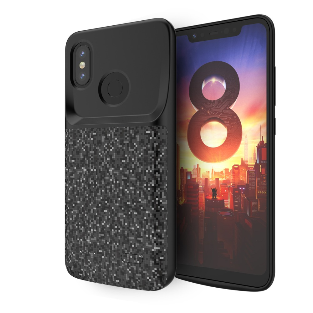 2019 4700mah <font><b>Battery</b></font> Charger <font><b>Case</b></font> For <font><b>Xiaomi</b></font> <font><b>Mi</b></font> 8 Power Bank Charging <font><b>Case</b></font> External Backup Charger Power bank Protect Cover image