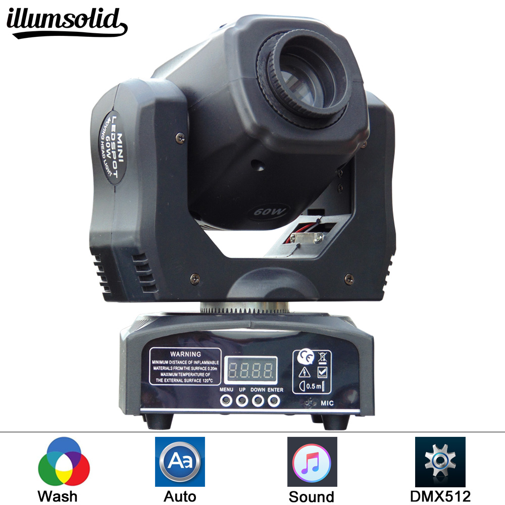 high quality LED Inno Pocket Spot Mini Moving Head Light 60W DMX 7 gobos effect stage lights for DJ ligting багажники inno