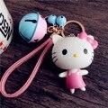 Мультфильм кукла Брелок cute kitty колокол ремень ключ пряжки автомобиль брелок сумка Кулон