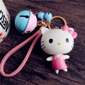 Cartoon doll Keychain cute kitty bell strap key buckle car key chain bag Pendant