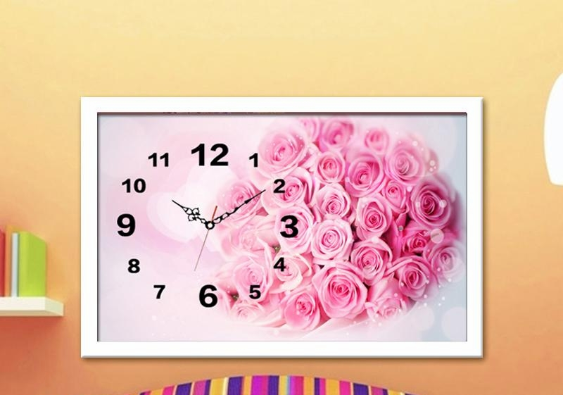 5d diy full diamond embroidery wall clock mosaic painting for Room decor 5d