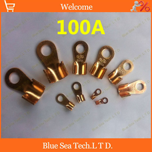O type 8.2MM OT-100A Copper Blade terminal,100A battery terminal for car E-bike etc.8mm Large Current earth terminal