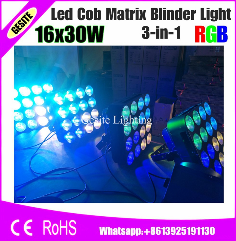 2pcs/lot 16*30W RGB 3IN1 COB DMX Led Matrix 4X4 Bliner Stage Light Good DJ|stage light|dmx led|cob dmx - title=