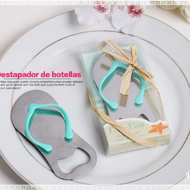 e5acdbb96 100pcs Creative Sandals Shoes Beer Bottle Opener Red Wine Openers Slipper  Shaped Wedding Favor Gifts wa2727