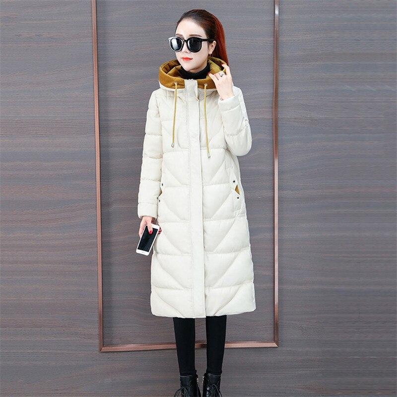 gray Chaud 614 2018 Mode Manteaux Épaississent Femme D'hiver Manteau Dans Black Longue Parkas Coton white Survêtement Le Nouveau Pardessus Hiver Capuchon À De Veste RTqBff