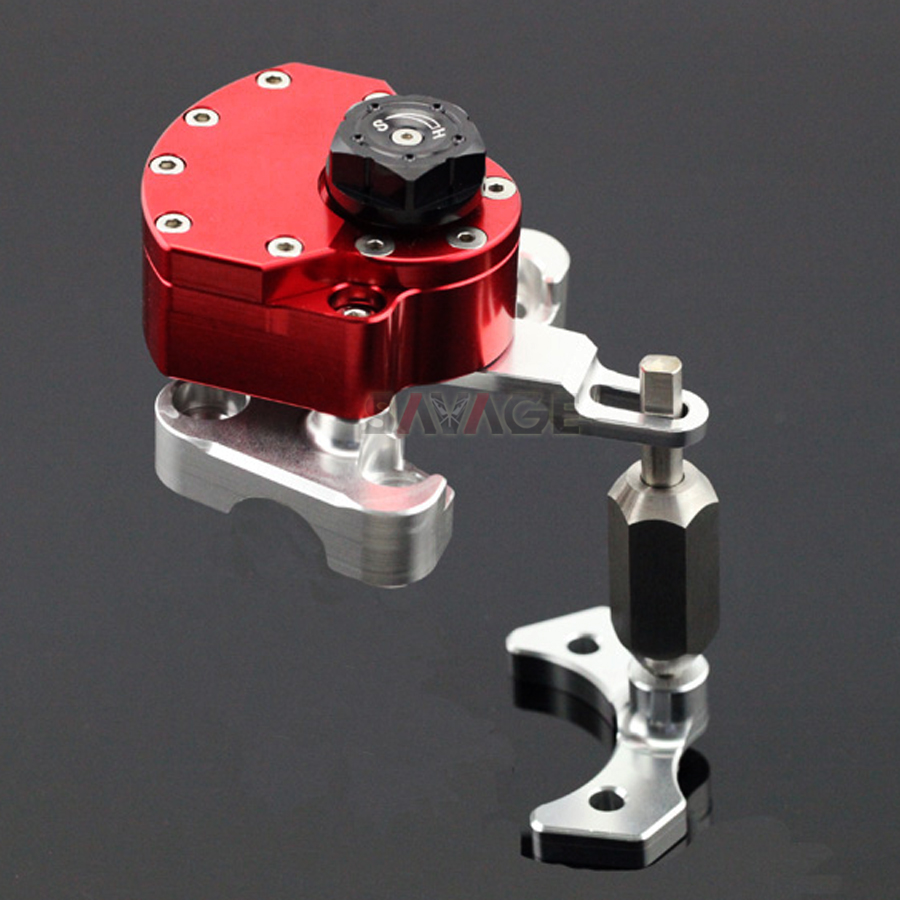 Steering Damper With Mount Bracket Kit For DUCATI MONSTER 796 1100 S/EVO 1100S 1100EVO Stabilizer Reversed Safety Control CNC