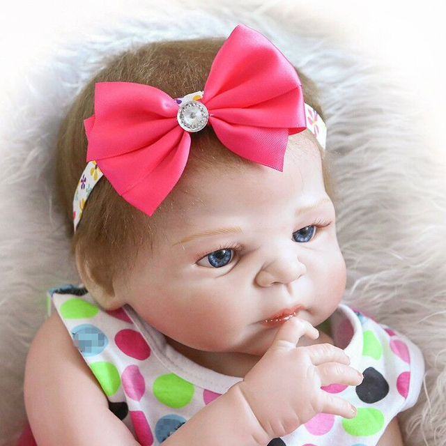Reborn Doll with Soft Real Gentle Touch Silicone Vinyl Lifelike Doll 5