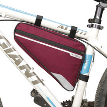 B - SOUL Bike Bag Large Capacity MTB Road Frame Bag Triangle Pouch Waterproof Bicycle Bag Pannier Accessories 4 colors