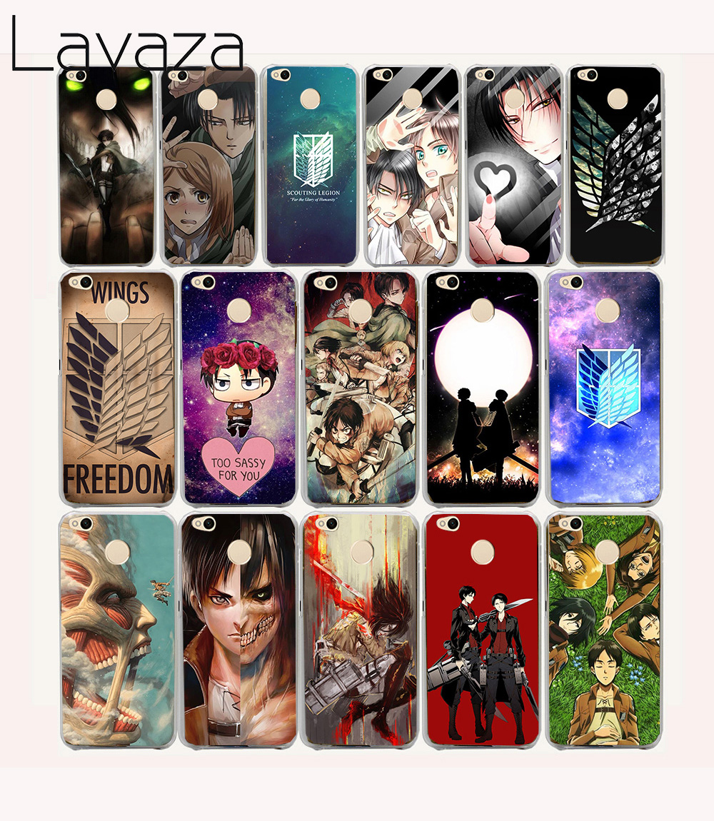 Lavaza 16O Attack On Titan Anime Hard Case for Xiaomi mi a1 5 5s 6 Redmi 5a 4a 4X 3s 5 Plus Note 4 4x 5a 3 pro ...