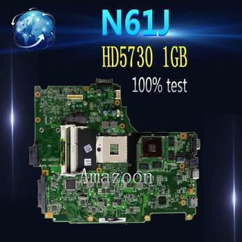 Amazoon  N61JA Laptop Motherboard For ASUS N61J N61JA N61JQ Mainboard REV2.1 Full Tested Support i3 i5 CPU  HD5730 1GB