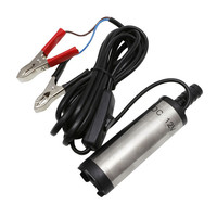 New 1 PCS DC12V Stainless Steel Submersible Diesel Fuel Water Oil Pump 12L Per Minute 38mm