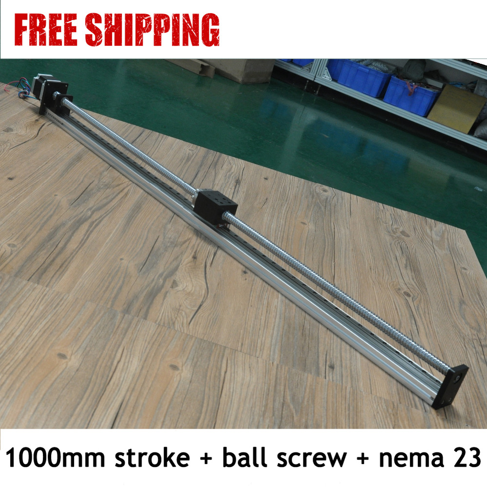 Free Shipping Right price 1000mm movement length motorized linear slide for cnc free shipping 900mm travel aluminium motorized linear slide for cnc machine