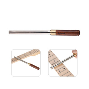 Image 4 - Guitar Fret File Guitar Fret Dressing Metal File with 3 Size Edges Wooden Handle Guitar Repair Tool Luthier Tool