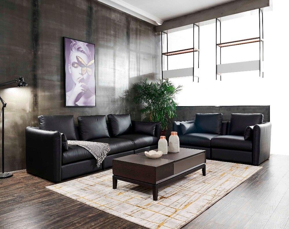 Muebles special offer hot sale modern muebles de sala yg furniture 2018 living room 7pcs with tables 321 leather sofa