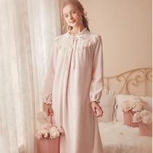 Camicia da notte calda rosa indumenti da notte invernali camicia da notte in velluto donna elegante camicia da notte abito lungo per la casa velluto