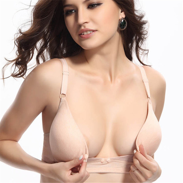 140123b7b5da1 Women Maternity Nursing Bra Tops Breastfeeding Bra Wireless Cotton Pregnant Feeding  Maternity 34-42B