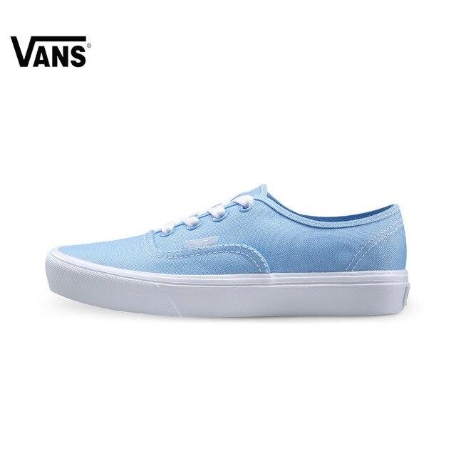 Original Vans Orange and Blue Color Women s Light Weight Skateboarding Shoes  Canvas Sport Shoes Sneakers 6ba2b888da2a