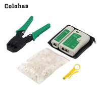 Ethernet Network Repair Tool Kit 100 RJ45 Modular Plug Crimping Crimper Stripper Punch Down Cable Tester