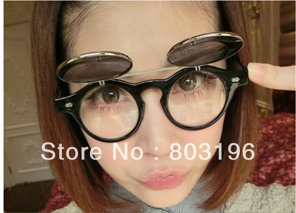 5PCS/Lot Punk Clamshell Retro Sunglasses Round Metal Frame Sunglasses Fashion Lovely Sunglasses Free Shipping