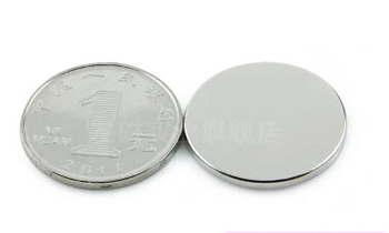 NdFeB Disc Magnet Dia. 25x1.95 mm Jewelry magnet Neodymium Permanent Magnets Grade N35 NiCuNi Plated Axially Magnetized 50pcs