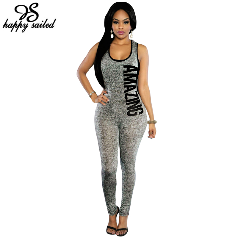 1a71eb979098 Womens body suit one-piece grey black red Plunging V Backless Letter ...