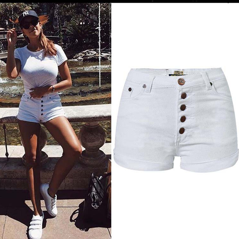 Yiquanyimei Verano Moda Casual Blanco Denim Shorts Para Mujer Pantalones Cortos Jeans Pantalones Cortos De Jean White Denim Shorts Shorts For Womendenim Shorts Aliexpress