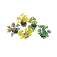 1:12 Dollhouse Miniature Potted Plant Flowers Pot Doll House Decor Furniture Fairy Garden Ornament Craft(China)