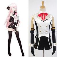 Vocaloid Project DIVA F 2nd Megurine Luka Uniform Cosplay Costume