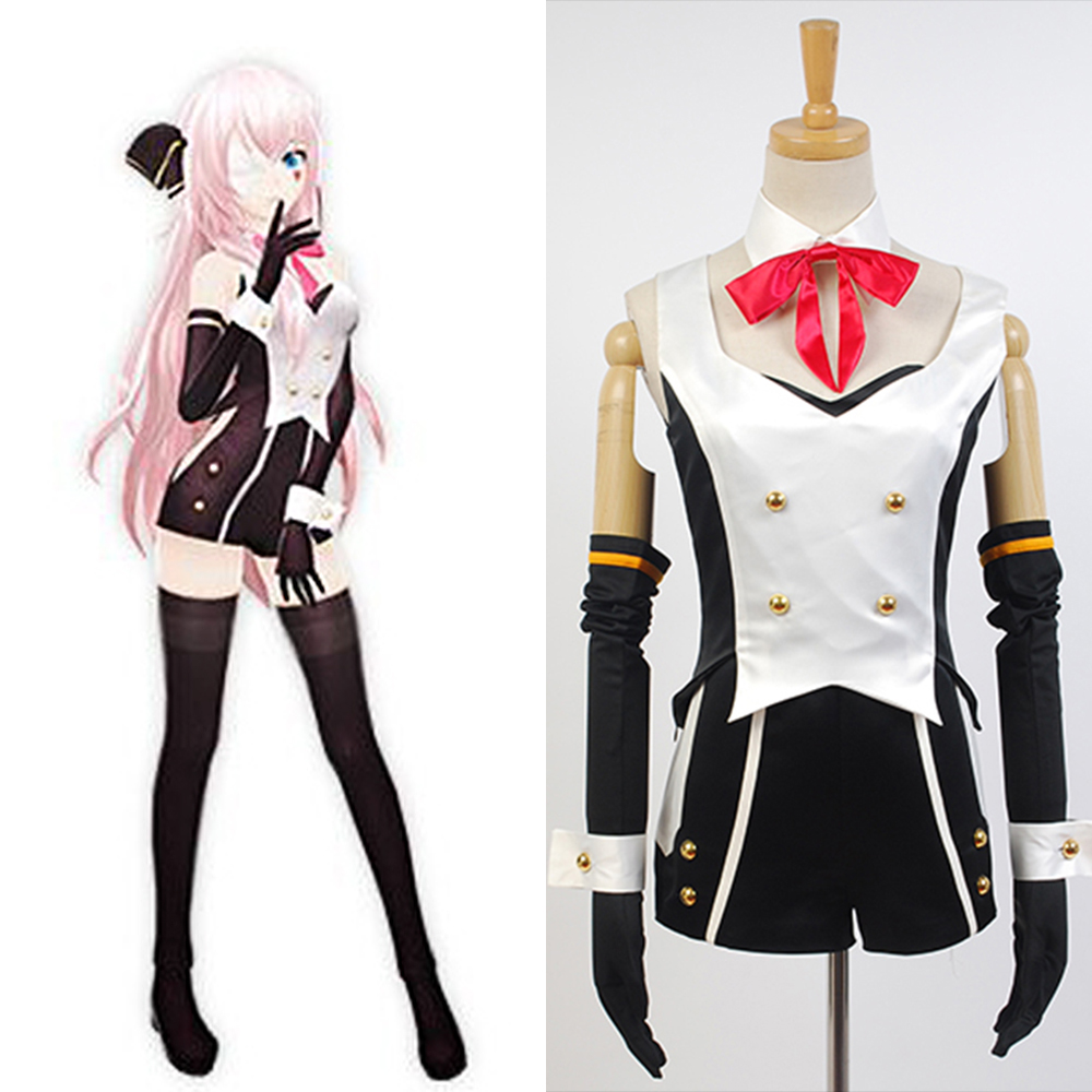 Vocaloid Project DIVA-F 2nd Megurine Luka Uniform Cosplay Costume