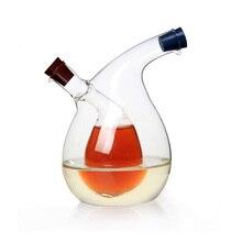 Freies Verschiffen Mehrzweck Große Küche Gewürz Flasche Grünen Glas Öler öl austreten kann öl essig sauce flasche Hochwertigen