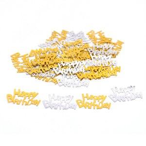 Image 3 - 1パックハッピーバースデー紙吹雪ローズゴールド手紙紙吹雪結婚式誕生日パーティーベビーシャワーバルーン装飾用品