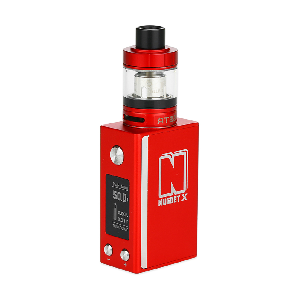 Clearance Artery Nugget X Starter Kit with 50W TC Box MOD Built-in 2000mAh Battery & 2ml AT22 Sub-ohm Tank Electronic CigaretteClearance Artery Nugget X Starter Kit with 50W TC Box MOD Built-in 2000mAh Battery & 2ml AT22 Sub-ohm Tank Electronic Cigarette