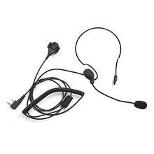 XQF Walkie Talkie тактические наушники Finger PTT гарнитура микрофон для Kenwood Baofeng UV-5R BF-888S GT-3TP UV-6R UV-5RE плюс Любительское радио