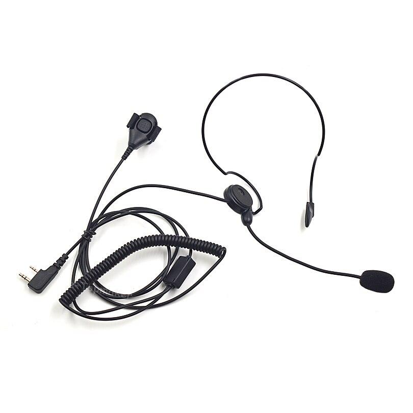imágenes para Xqf 2 pin auricular headset micrófono ptt dedo para kenwood baofeng uv-5r bf-888s gt-3tp uv-5ra plus uv-5re plus radios portátiles