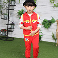2017 Children 's sets Spring and Autumn paragraph children' s suit hooded cartoon three piece sets