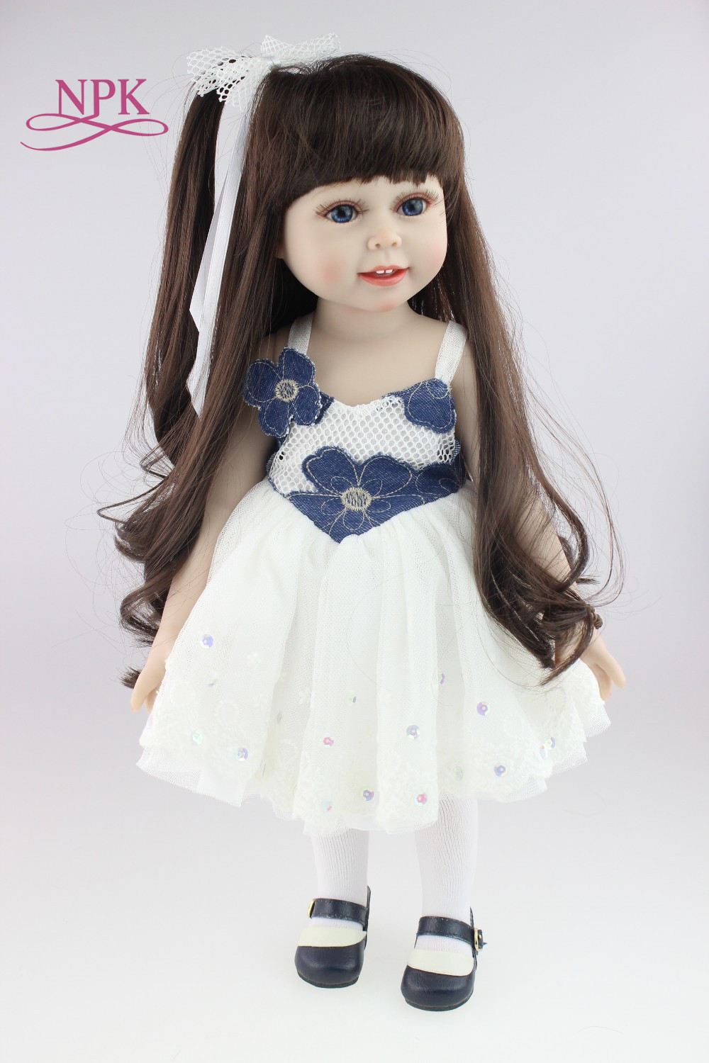 18inch Handmade Full Silicone Vinyl SD/BJD Doll Reborn With Professional Design Clothes For Dolls Must Be The Best Gift Of Kids 18inch handmade full silicone vinyl sd bjd doll reborn with professional design clothes for dolls must be the best gift of kids