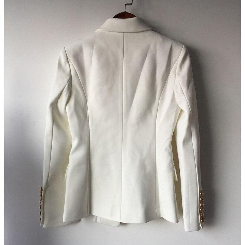 Лучшие качества новая мода 2017 дизайнер blazer куртка женщин двубортный металла лев кнопки пиджак наружный размер s-xxl