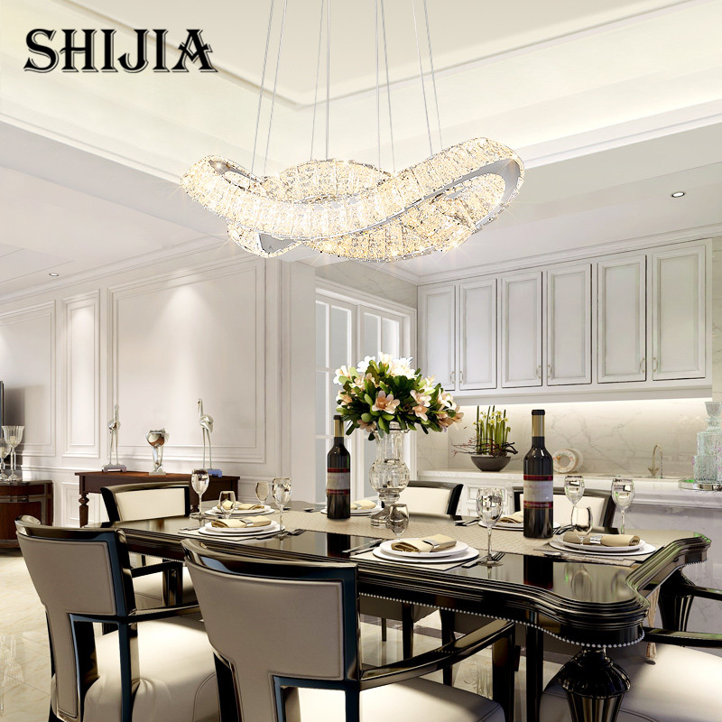 Modern Lustre Led Crystal Chandelier Lighting Ceiling Chandeliers Light Lamp for Dining Room Kitchen Island Showcase office ...