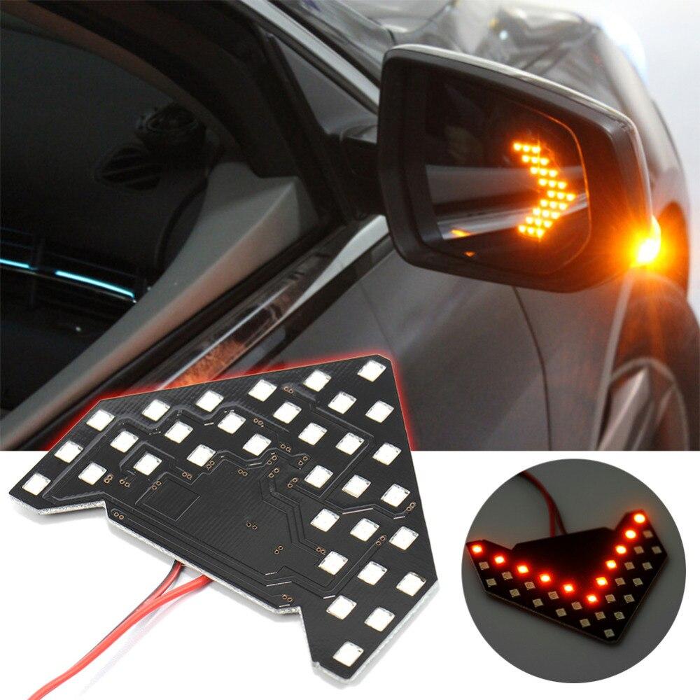 Set of 2 HDE Waterproof 12V Soft Yellow 9 LED Side Mirror Lamp Light Turn Signal Direction Blinker Kit