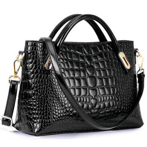 Women Leather Handbags крокодил Statchels небольшой тотализатор мешок руки Cross Body плеча ремень сумки мода дамы сумка почтальона сумочки