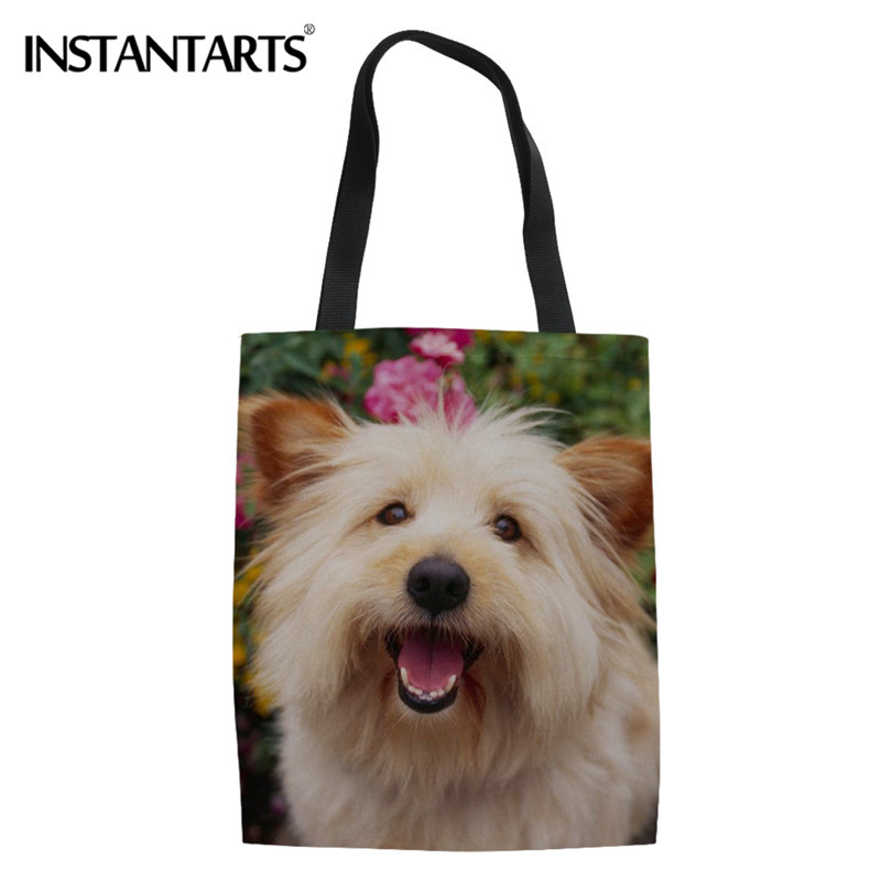 Functional Bags Luggage & Bags Humor Women Canvas Bags Eco Friendly Ladies Shopping Tote Holiday Beach Casual Totes Diy Corgi Dog 3d Painting Bags For Girls