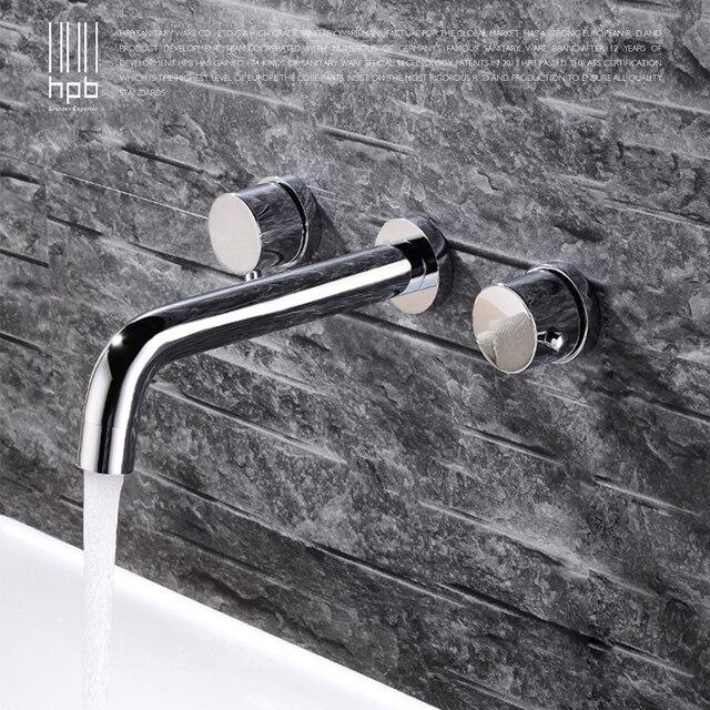 HPB Neue Ankunft Moderne Badezimmer Becken Wasserhahn Wand Warmen ...
