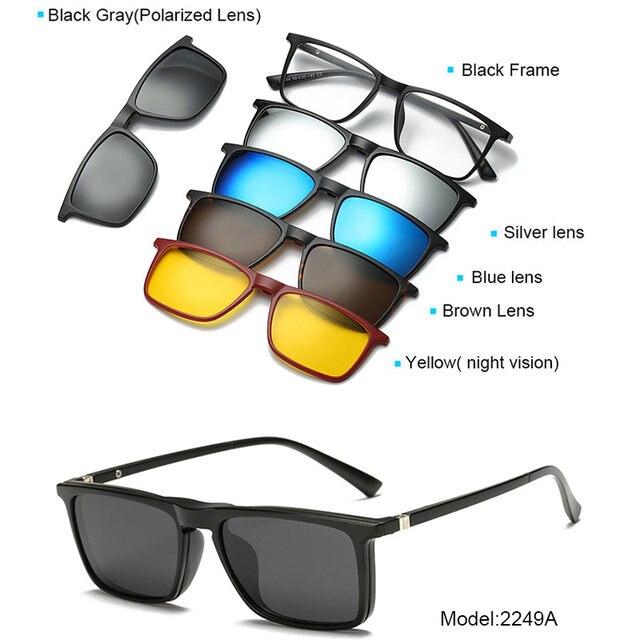 Online Shop 5+1 suit Fashion Clip On Sunglasses Women Frames Clips ...