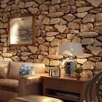 Beibehang 3d Stereo Brick Wallpaper Rock Fake Striped Restaurant Hot Pot Hotel Living Room Background wall 3d Wallpaper roll