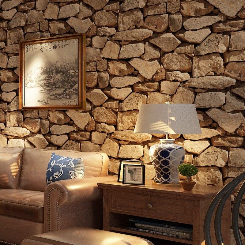 Beibehang 3d stéréo brique papier peint Rock faux rayé Restaurant Hot Pot hôtel salon fond mur 3d papier peint rouleau