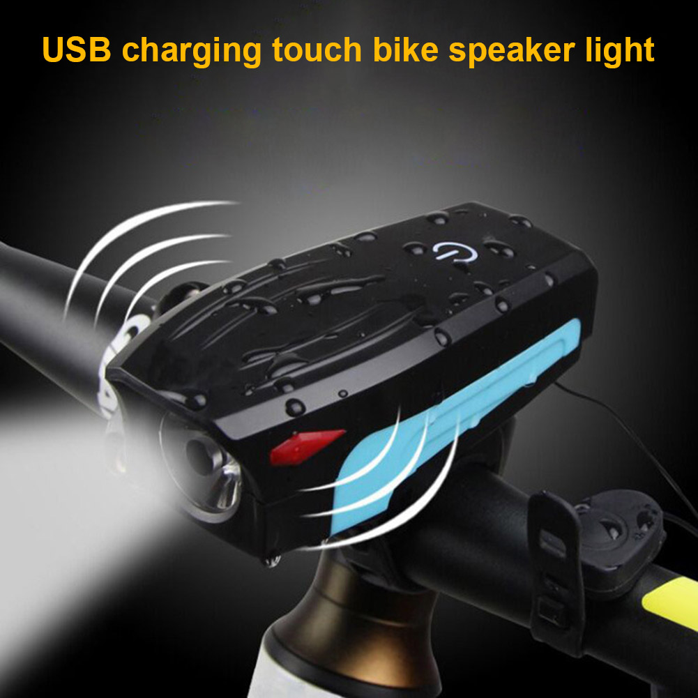Hot Electric Loud MTB Bike Air Horn Ring Light Road Handlebar 130db Bell Siren Cycling Front Lamp DO2