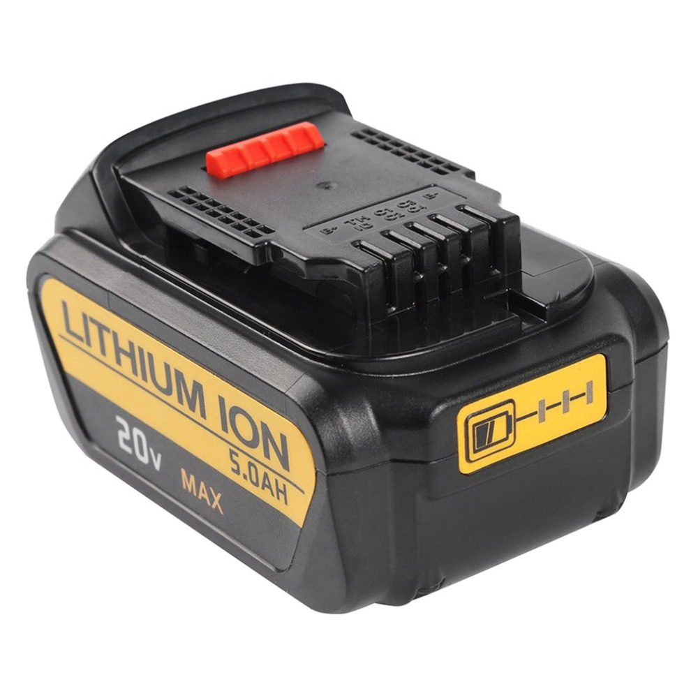 Onleny для DeWalt 20 В 5000 мАч Мощность инструменты Батарея Замена для буровых DCB200 DCB181 DCB182 DCB204 Перезаряжаемые литий-ионный Батарея